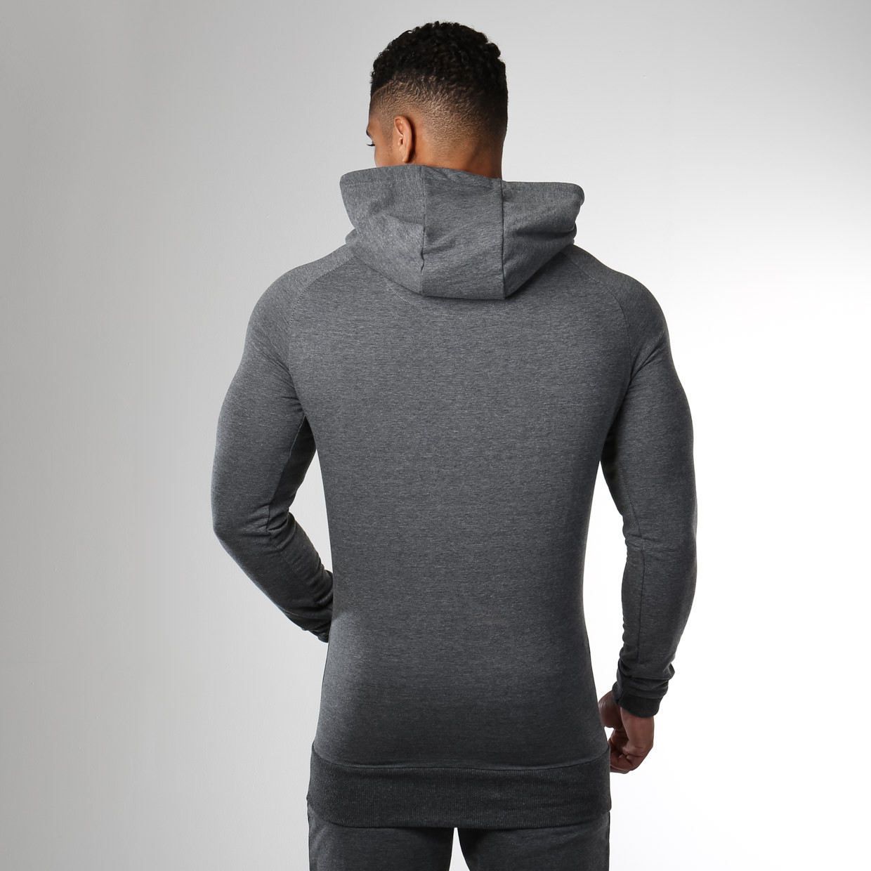 Gymshark Ark Pullover in Charcoal from the Back