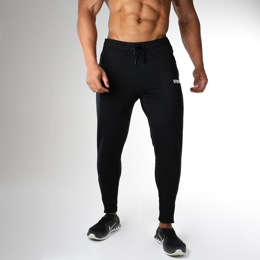 Gymshark Fit Tapered Bottoms in Black