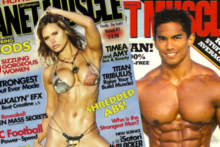 Collage of Planet Muscle Magazines - Protein Hunter