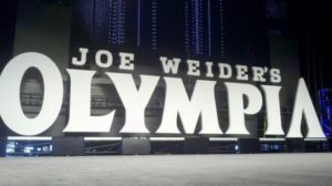 The stage at the Mr Olympia in 2012 in Las Vegas, Nevada