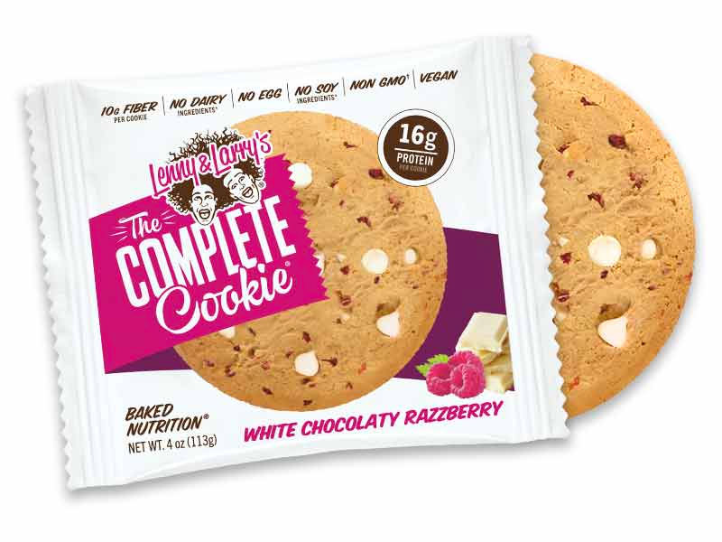 Lenny & Larry's White Chocolate Razzberry Cookie flavor